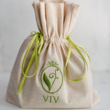 Тривка от лен с лого ВИВ