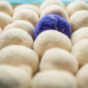 1002-PP.Плъстен сапун – синя гама