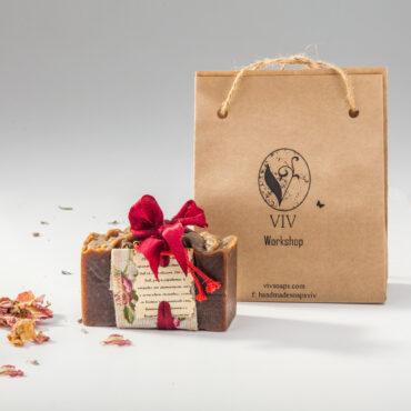 SK-1002. Коледен подарък. 100 % натурален ръчноправен сапун ВИВ Канела